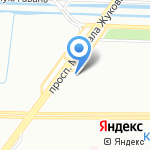 Муниципальное образование округ Красненькая речка на карте Санкт-Петербурга