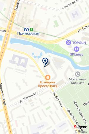 УПРАВЛЯЮЩАЯ КОМПАНИЯ НЕВИСС-КОМПЛЕКС на карте Санкт-Петербурга