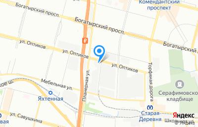 Местоположение на карте пункта техосмотра по адресу г Санкт-Петербург, проезд Мебельный, д 10 литер а