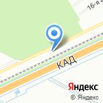 Гаражная автостоянка №19 на карте Санкт-Петербурга