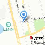 Синий крест на карте Санкт-Петербурга