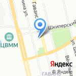 Дом на Гаванской на карте Санкт-Петербурга