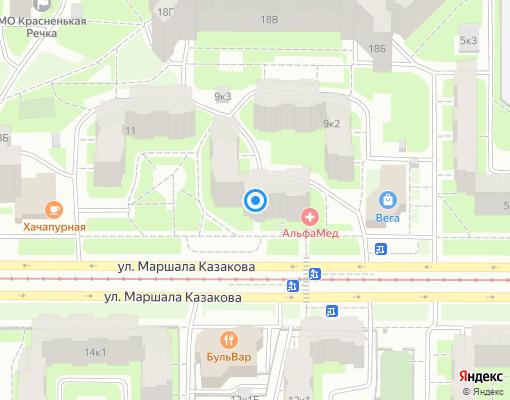 Товарищество собственников жилья «НИКА» на карте Санкт-Петербурга