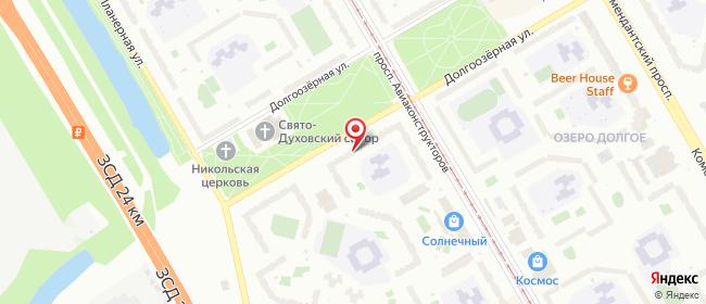 Карта расположения пункта доставки Санкт-Петербург Долгоозёрная в городе Санкт-Петербург