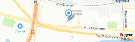 Милагро на карте Санкт-Петербурга