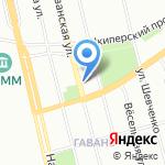 Цветочная гавань на карте Санкт-Петербурга