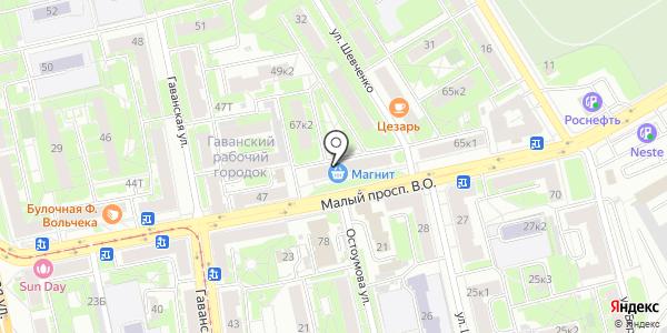 Магнит. Схема проезда в Санкт-Петербурге