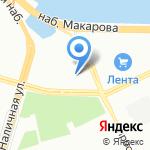 Василеостровец на карте Санкт-Петербурга