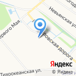 Диадема на карте Санкт-Петербурга