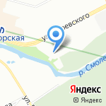 Банный Дом на Смоленке на карте Санкт-Петербурга