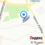 Салон химчистки-прачечных на карте Санкт-Петербурга