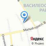 Муниципальное образование округ Гавань на карте Санкт-Петербурга