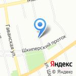 Силуэт на карте Санкт-Петербурга