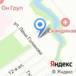 Родник на карте Санкт-Петербурга