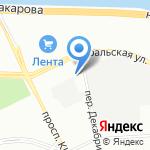 Подводречстрой-1 на карте Санкт-Петербурга
