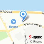 Бекас на карте Санкт-Петербурга