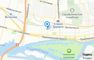 Местоположение на карте пункта техосмотра по адресу г Санкт-Петербург, ул Савушкина, д 89 литер а