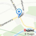 Остров Декабристов на карте Санкт-Петербурга