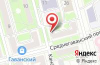 Схема проезда до компании А-кино в Санкт-Петербурге