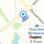 РосДеньги на карте Санкт-Петербурга