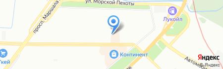 Ангара на карте Санкт-Петербурга