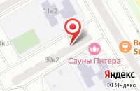Схема проезда до компании Техпласт в Санкт-Петербурге