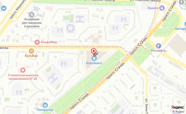 Карта расположения пункта доставки Шушары Московское в городе Шушары