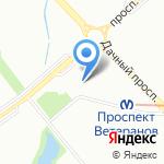 Магазин мясной и молочной продукции на карте Санкт-Петербурга