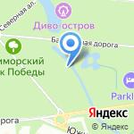 Приморский парк Победы на карте Санкт-Петербурга