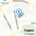Нэцуи на карте Санкт-Петербурга