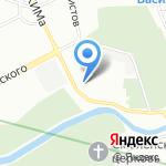 Восходящая звезда на карте Санкт-Петербурга