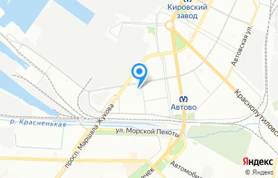 Местоположение на карте пункта техосмотра по адресу г Санкт-Петербург, дор На Турухтанные острова, д 10 литер а
