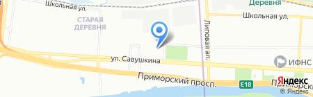 Интернест на карте Санкт-Петербурга