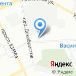 Средняя общеобразовательная школа №18 с углубленным изучением математики на карте Санкт-Петербурга