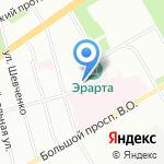 Финист на карте Санкт-Петербурга