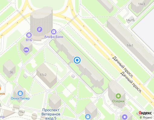 Жилищно-строительный кооператив «ЖСК №345» на карте Санкт-Петербурга