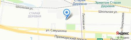 Жилищный отдел Администрации Приморского района на карте Санкт-Петербурга
