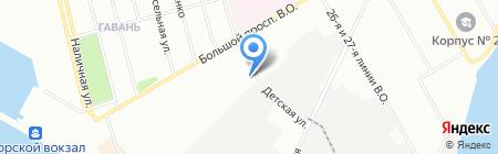 ОСТ ПЛЮС на карте Санкт-Петербурга