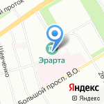 Эрарта на карте Санкт-Петербурга