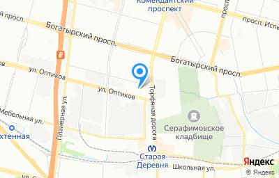 Местоположение на карте пункта техосмотра по адресу г Санкт-Петербург, ул Оптиков, д 1 к 3 стр 1