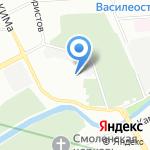 Льдинка на карте Санкт-Петербурга