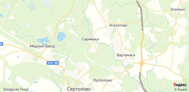 Сарженка на карте