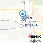 Окушок на карте Санкт-Петербурга