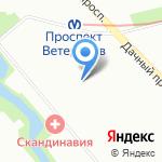 Библиотека №5 на карте Санкт-Петербурга