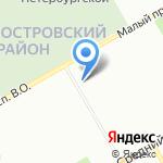 Сириус на карте Санкт-Петербурга
