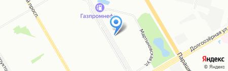 А-строй на карте Санкт-Петербурга