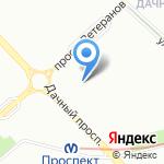 Дачное 14 на карте Санкт-Петербурга
