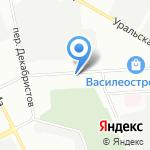 Смоленка на карте Санкт-Петербурга