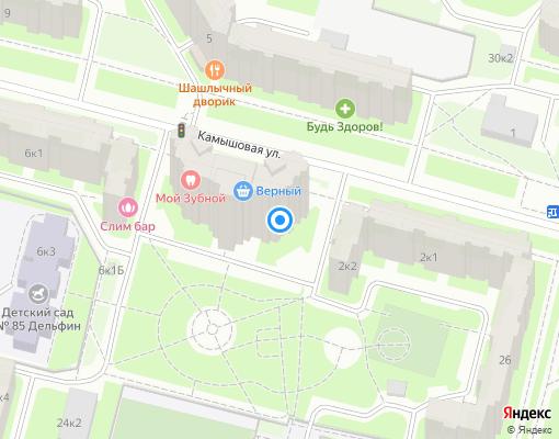 Товарищество собственников жилья «Камышовая 4/1» на карте Санкт-Петербурга