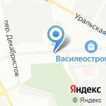 Спираль на карте Санкт-Петербурга